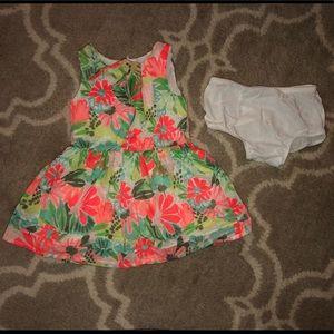 5/$25 Cat & Jack bright floral dress